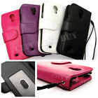 LOT PU Leather Flip Clutch Wristlet Pouch Wallet Card Case for Galaxy S4 i9500