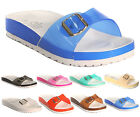 Ladies Girls Beach Summer Retro Jelly Slider Flip Flop Mules Womens Sandal Shoes
