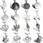 New Cool Stainless Steel Silver Heart Unisex Pendant Leather Necklace Jewelry
