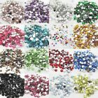 12Colors Diy Facets Resin Rhinestone Gems Flat Back Crystal beads 4.5.8mm