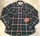 True Religion Shirt  FLANNEL PLAID THERMAL LINING Green Size S NEW