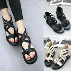 Fashion Strappy Zip Back High Heels Flip Flops Thong Wedges Buckle Sandals Shoes
