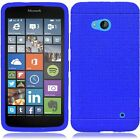 For Nokia Lumia 640 Rugged Rubber SILICONE Soft Gel Skin Case +Screen Protector