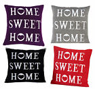43x43cms Home Sweet Home Cotton Chenille Cushion Cover Scatter Decorative Pillow