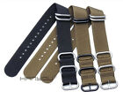 NEW Stainless Steel Clasp men's solid nylon watch band For LUMINO- 18-24mm