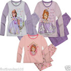 GIRLS SOFIA THE FIRST LONG LEG  PYJAMAS TODDLER AGE 18-24 AND 3-4 YEARS