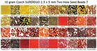 10 gram Czech SUPERDUO 2.5 x 5 mm Two Hole Seed Beads 7