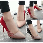 Fashion Sexy Office Lady Pointy Toe Pumps Slim High Heels Stilettos Prom Shoes