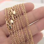 18K Gold Filled Curb Link Chain Necklace Jewelry DIY Lobster Clasp 16-30inch