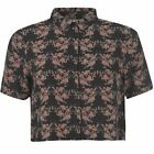 First and I Womens Mingo Shirt Short Sleeve Top Button Fastening Printed