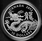 2012 Canada $15 Fine Silver Year of the Dragon