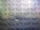 200 Oval Sterling Silver Stickers - Jewellery Making