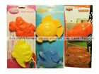 *WHAT KIDS WANT 2pc Set SAND MOLDS Beach+Sandbox CHARACTER SHAPES *YOU CHOOSE*
