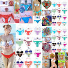 Sexy Women Jewel Crystal Bikini Set Push Up Padded Bra Swimwear Swimsuit Bandeau