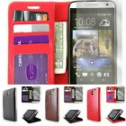 Synthetic Leather Wallet Flip Pouch Phone Cover Case for HTC Desire 610