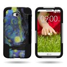 For LG Pulse / LG Realm  Heavy Duty Dual Layer  Hybrid Design Cover Case