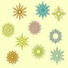 Aztec Suns Machine Embroidery Design CD-Anemone Embroidery Designs-5x7 and 8x8