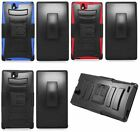 Phone Cover HYBRID Case with HOLSTER BELT CLIP For ZTE Grand Memo 2 II / Z980L