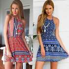 Women's Sexy Party Sundress Cocktail Beach Boho Backless Spaghetti Strap Dress