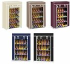 Vinsani 5 Tier Canvas Shoe Rack Standing Storage Organiser Rack Holds 15 Pairs