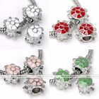 5pc White Gold Palted Turtle Tortoise Charms European Bead Fit Braclet Findings