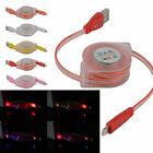 Retractable LED Light USB Micro Charger Changing Data Sync Cable iPhone5 5S/C 6
