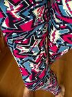 SOFT brushed Pink TRIBAL ABSTRACT Leggings Polyester One size S M L