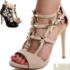 Strappy Court Shoes Peep Toe Sandals Party Women's Platform High Heels Luxury