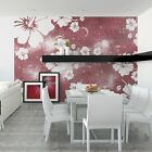 Design Photo Wall Paper Hibiscus Tattoos Stickers Living Room Wandtatoos Flower