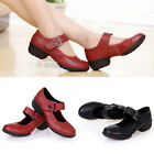 New Lady Spring Dance Shoes Leather Rivet Buckle Strap Summer Boots Loafers
