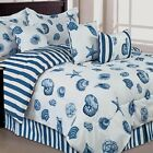 OCEAN SEASHELL STAR FISH COMFORTER 3 PILLOWS 5 7 PIECE SET KING QUEEN FULL TWIN