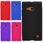 For Verizon Nokia Lumia 735 Rugged Rubber SILICONE Soft Gel Skin Case Cover