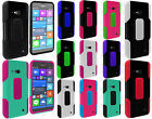 For Verizon Nokia Lumia 735 Robust Slim HYBRID Rubber Case Phone Cover Accessory