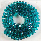 New Facted Rondelle Bicone Crystal Jewelley Loose Beads 6mm/98pcs Peacock Green