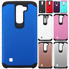 For LG Phoenix 2 HARD Astronoot Hybrid Rubber Silicone Case Cover + Screen Guard