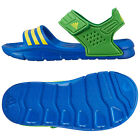 New Boys Adidas Akwah 8 Brazil Kids Soft Velcro Comfy Beach Sandals Size 10-2