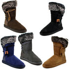 Reneeze Rose-10 Women Fashion Mid-Calf Winter Snow Boots Faux Fur Lining