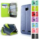 For ZTE Sonata 2 Credit Card Wallet Case Phone Pouch Cover Screen Protector