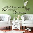 1pc Home Decor Words Letters Quote Removable Art Vinyl Wall Sticker Decal Mural