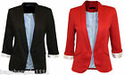 NEW LADIES BLACK RED SMART JACKET BLAZER EVENING OFFICE INTERVIEW GOING OUT