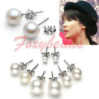 2p 925 Sterling Silver Natural Freshwater Pearl Ear Stud Earrings Wedding Bridal