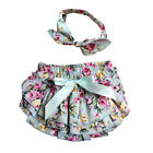 Baby Girl Toddler Outfits Clothes Cotton Rose Flower Bloomer Diaper Cover Shorts