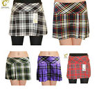 Ladies Box Pleated Tartan Skirt 14 Inches Womens Quality Nice Skirt Size 8 - 18