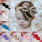 Cute Baby Girl Newborn Chiffon Bowknot Hair Band Headband Decor Accessory