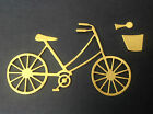 Bicycle (bike) and basket Die Cut Shapes - Sets of 10, Assorted Colours