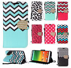 For ZTE lever Z936 Leather Premium Wallet Pouch Flip Phone Cover + Screen Guard