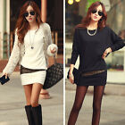 Fashion Womens Dress Long Sleeve Bodycon Slim Evening Casual Sexy Party Dress