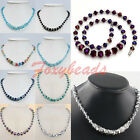 1pc Colorful Faceted Crystal Glass Ball Beads Jewelry Necklace Magnetic Clasp