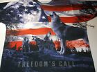 New Get a Life Patriotic flag wolf shirt mens size Small- XX-Large 4th of July