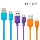 3Pcs Micro USB Charger Sync Data Standard Cable For SmartPhone Cell Phone Tablet